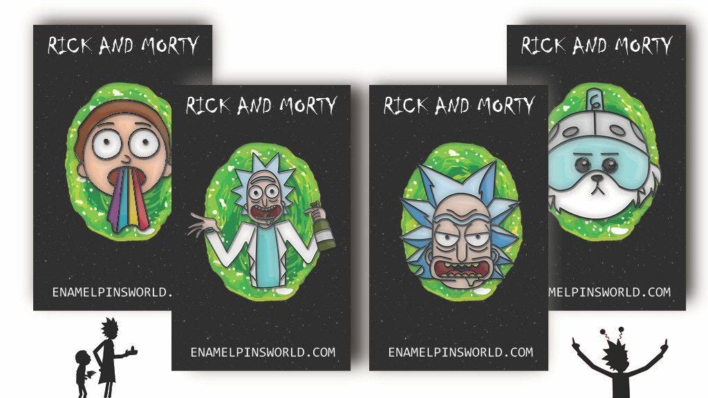 rick and morty enamel pins kickstarter pl
