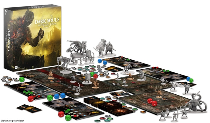 Ilustracja z kampanii: https://www.kickstarter.com/projects/steamforged/dark-soulstm-the-board-game