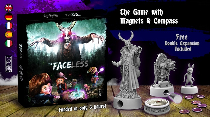 Picture from the campaign page at: https://www.kickstarter.com/projects/alterego-games/the-faceless