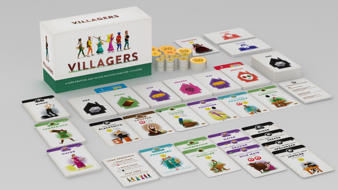 villagers board game on kickstarter
