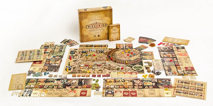 trickerion board game on kickstarter
