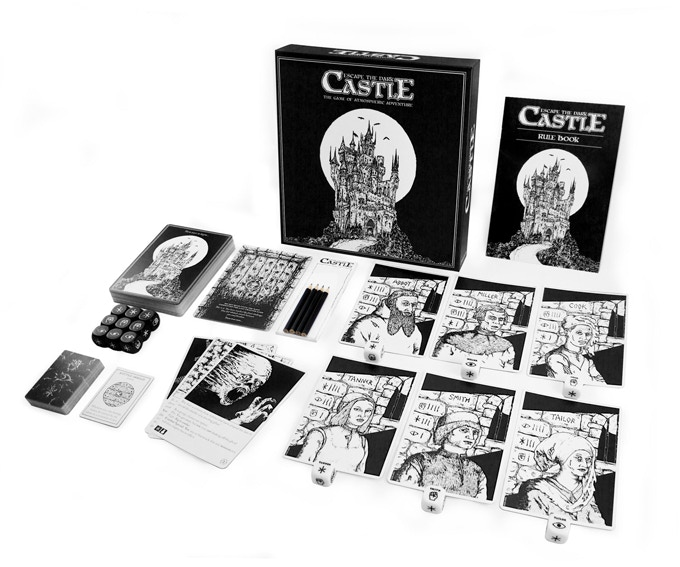 escape the dark castle board game on kickstarter