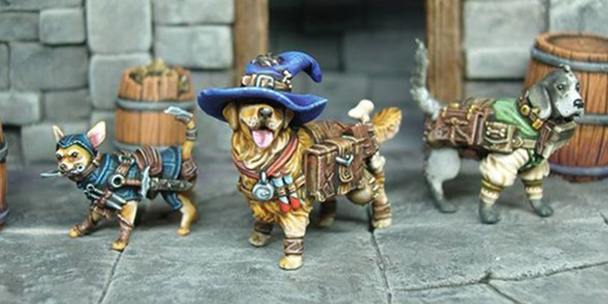 dungeons and doggies kickstarter miniatures 2