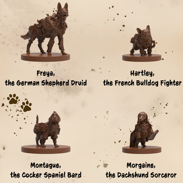 dungeons and doggies kickstarter miniatures 1