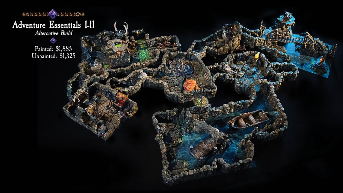 caverns deep tereny do gier z kickstartera od dwarven forge