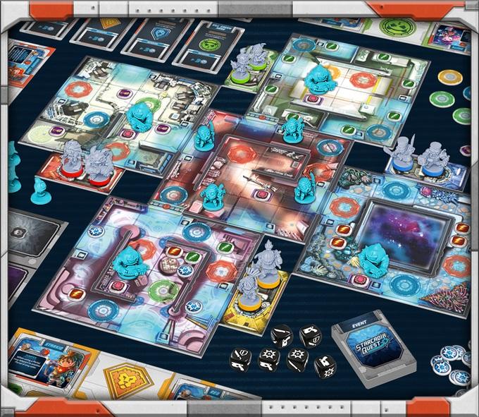 Starcadia Quest gra planszowa z kickstartera