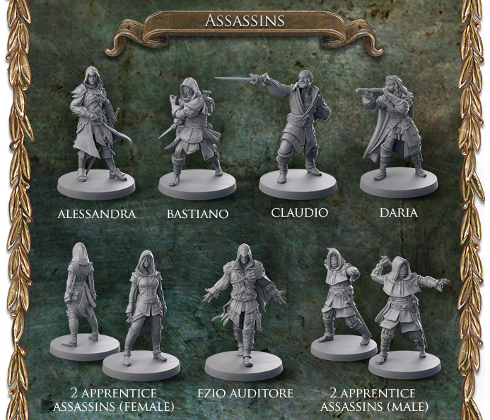 Assassin's Creed - Brotherhood of Venice planszówka kickstarter 1